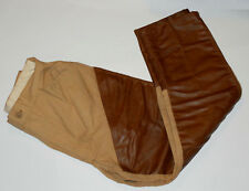 VINTAGE 'CHIEF' HUNTING PANTS/TROUSERS! BROWN VINYL FRONT & TRIM! USA! 30 x 27