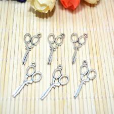 10pcs Tibetan Silver scissors Charm Pendant Bead DIY Jewellery Making