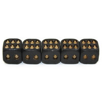 5Pcs Creative Black Skull Dice 6-Sided Cube Party Entertainment Leisure Toys New