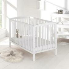 Baby Cot in Country Pine 120x60cm Crib With Mattress and Teething Rails