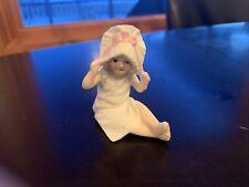 Small Vintage Bonnet Girl Figurine 371