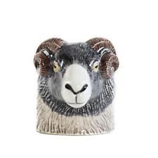 More details for quail ceramics swaledale sheep face egg cup british farm animal ram pottery