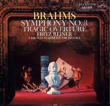 LP BRAHMS SYMPHONY NO. 3 FRITZ REINER CHICAGO SYMPHONY ORCHESTRA