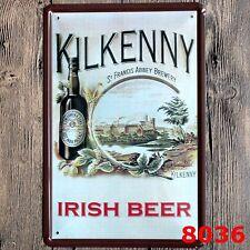 Metal Tin Sign kilkenny irish beer Bar Pub Vintage Retro Poster Cafe ART