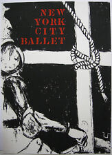 George Segal (1924-2000) Plakat New York City Ballet Orig Lithographie 1974
