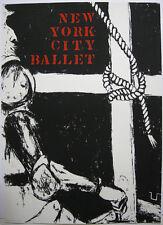 George Segal (1924-2000) cartel new york city ballet ORIG litografía 1974