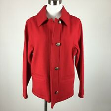 Woolrich M Medium Jacket Boiled Wool Button Slit Pockets Unlined