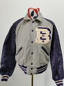 """Vintage HOWE"""" Baseball/ Varsity Jacket Size Large  Americana"""