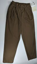 "NWT Susan Bristol Women's Casual Pants Size 10 Belt Loops Pleated 30"" Inseam"