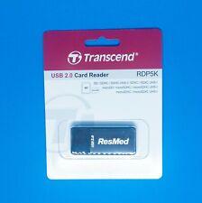 Resmed S9 / Airsense 10 SD data memory card USB reader by Transcend RDP5K