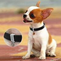 Black Personalized Dog Collars Free Custom Engraved Pet Name Phone XXS/XS/S