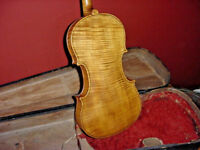 ANTIQUE  VIOLIN  GUISEPPE GUARNERIUS ONE PIECE TIGER BACK