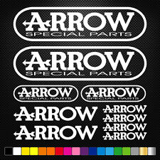 10x ARROW Vinyl Decal Stickers Sheet Motorcycle Sponsors Auto Tuning Quality