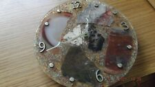 Stone faced wall clock 8 1/2 inch diameter new in box