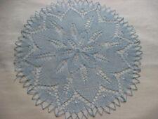 rundes Deckchen gestrickt ca.31 cm hellblaue Mitteldecke