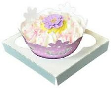 10 Cupcake Box holds 1 each WHITE 4.5x4.5x4.5 Bakery Box and Inserts for 10