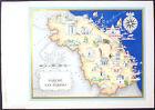 1950 - CARTINA MARCHE E SAN MARINO - STAMPA IMAGO ITALIAE - SPECIALE FARMITALIA