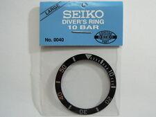 SEIKO 10 BAR LARGE BLACK BEZEL INSERT FOR SEIKO 7S26-0040