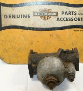 GENUINE 1941-47 Harley EL FL Knucklehead M35 Carburetor + Bowl Needle Choke Disc