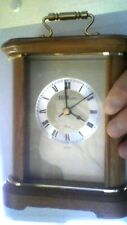 WALTHAM QUARTZ CLOCK  REAL OAK WOOD  WITH MINUTE HAND