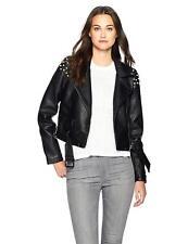 Joe's Jeans Women's Taylor Hill Moto Jacket Vegan Leather sz XS