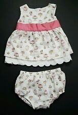 Baby Girls Janie and Jack Soda Fountain Size 12-18 Months Summer Set Pink  Shirt