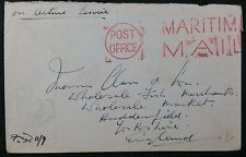 WW2 On Active Service Maritime Mail Cover,  WW2, With From HM Ship Cachet