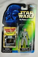 Captain Piett Power of the Force Kenner 1997 Star Wars GREEN Card w Freeze Frame