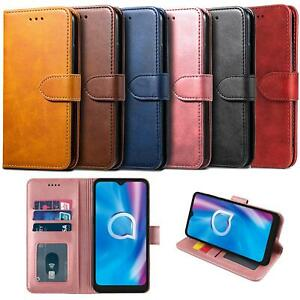 For Alcatel 1S 2020 Case Luxury Leather Wallet Cover Book HeavyDuty Protection