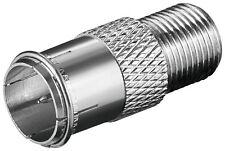 10 Stück F-Verbinder F-Quick Stecker>F-Kupplung  Kupferausführung