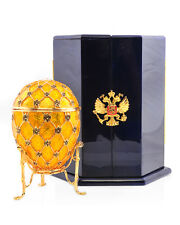 ✅ Contemporary Faberge Yellow Coronation Egg New In Box International Shipping