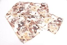 Retro Ladies Abstract Print Kitten Infused Scarf Unique Statement (S243)