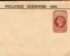 GB Cover *PHILATELIC EXHIBITION 1890* Wrapper UPP Jubilee Unused Stationery E203