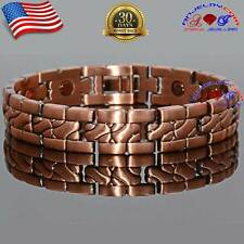 COPPER MAGNETIC GOLF BRACELET MEN ARTHRITIS PAIN STRONG MAGNET A122