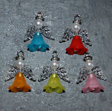 Guardian Angel Kit Makes 20 Beaded Pendants Charms Christmas + Instructions LK3