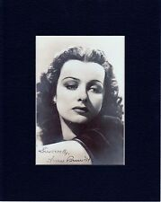 JOAN BENNETT  CUSTOM 8 by 10 MATTED REPRINT PHOTO & REPRINT  AUTOGRAPH