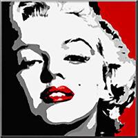 QUADRO Marilyn Monroe rosso pintura pop art -offerta abstract peintura-painting