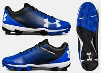 new UNDER ARMOUR men's LEADOFF RM Baseball Cleats sz 7.5 or 8.5 black blue shoes