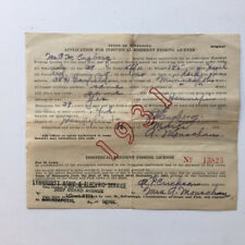 1931 Minnesota Fishing License, 1930 Fishing Id card