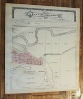 Antique MAP-PART 12 OF THE CITY OF KALAMAZOO & ENVIRONS, Michigan/Ogle & Co.1910