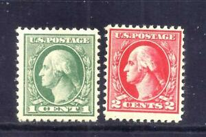 US Stamps -  #525-526 - MNH - 1&2 cent Washington Offset Issues - CV $63