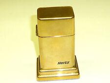 "VINTAGE ZIPPO BARCRAFT TABLE LIGHTER W. LETTERING ""HERTZ"" -1950-1957 -RARE-NICE"
