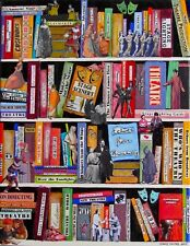 THE SCIENCE OF THEATRE BOOKS MIXED MEDIA COLLAGE ART ON CANVAS LIGHTING
