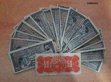 ESPAÑA COLONIAL. 1 billete de 50 centavos Alfonso XIII año 1896 Banco Español.