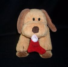 TY PLUFFIES GOODIES BROWN PUPPY DOG CHRISTMAS STOCKING STUFFED ANIMAL PLUSH TOY