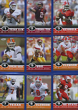 2006 SAGE HIT: COMPLETE SET OF 55 ROOKIE CARDS SUCH AS R. BUSH & JAY CUTLER