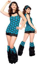 Womens 60s 70s Retro Disco Diva Halloween Costume Dance Fever Medium / Large