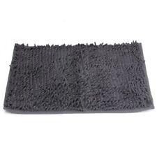 Washable Bathroom New Shaggy Rugs Non Slip Bath Mat Thick 40x60cm Dark gray Z6R3