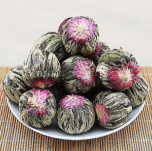 R.Terra Jasmine flower Dagon Balls Organic Craft  Blooming Tea High Quality