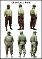 1/35 US American Tank Man WW2 Soldier Figure Unpainted Unassembled Resin Kit